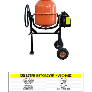 125 litre betoniyer